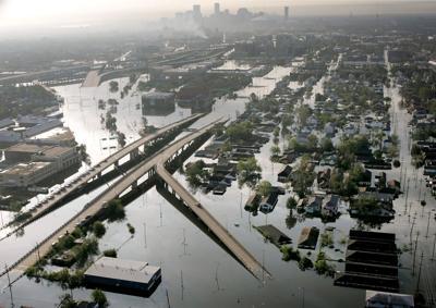 FILE - LA Hurricane Katrina New Orleans, 8-30-2005