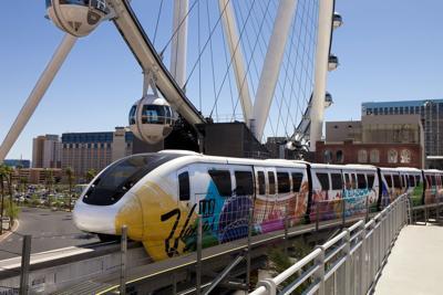 FILE - Las Vegas monorail