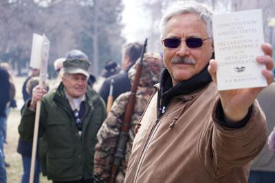 FILE - Gun Rights Rally Wyoming