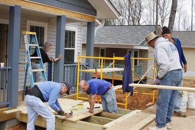FILE - Volunteering, Habitat for Humanity in North Carolina