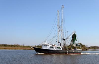 FILE - Louisiana shrimp fishing industry