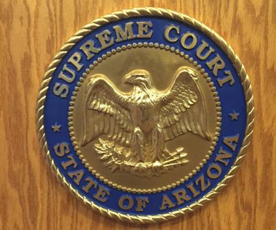 FILE - Arizona Supreme Court Seal