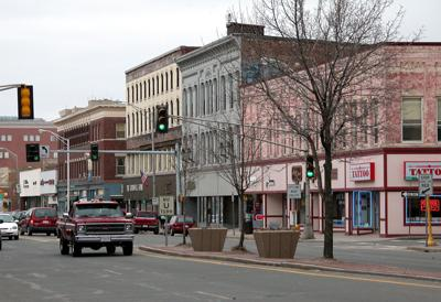 FILE - MA Pittsfield downtown 4-23-2003