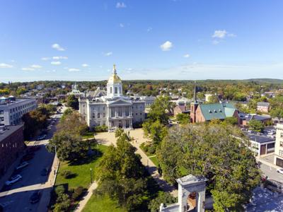 FILE - NH Statehouse, Concord