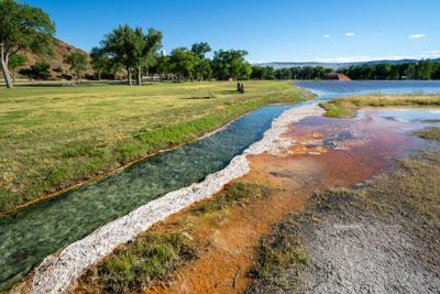 Hot,Springs,Mineral,Water,Flows,Through,Hot,Springs,State,Park