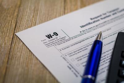 FILE - W-9 tax form