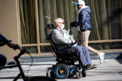 FILE - NY wheelchair 4-6-2020