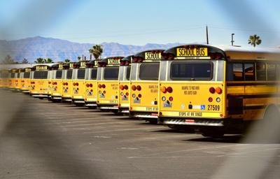 FILE - Las Vegan Nevada school buses