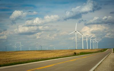 FILE - Iowa wind farm