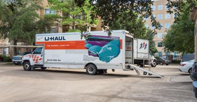 FILE - Moving truck, U-Haul