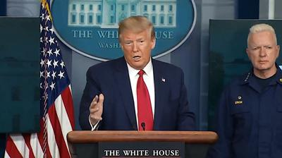 FILE - Donald Trump 4-6-2020
