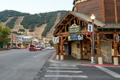 FILE - Downtown Jackson Hole, Wyoming