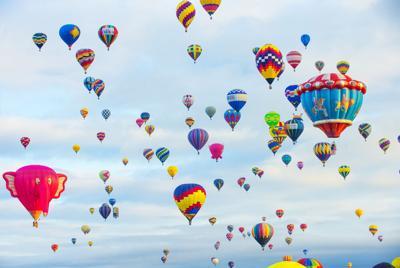 FILE - Balloon Fiesta hot air