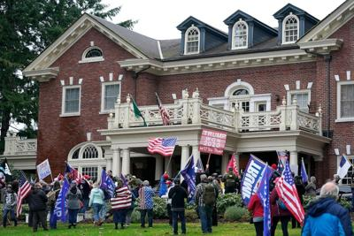 FILE – Washington governor's mansion protest