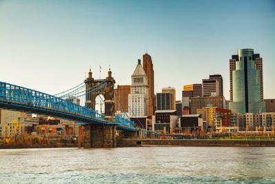 FILE - Cincinnati skyline