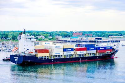 FILE - ME cargo ship 6-21-2018