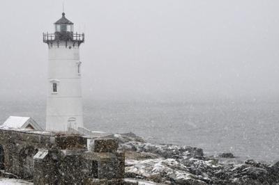 FILE - New Hampshire snowstorm