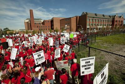 FILE - Chicago Schools Strike