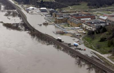 FILE - Midwest Flooding, Mississippi River, Illinois, Chester