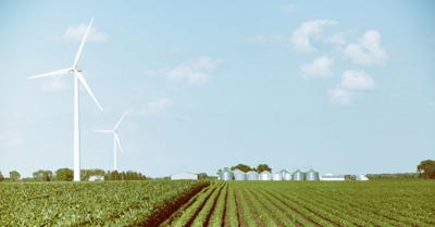 FILE - Wind turbines, renewable energy, green power, windmill
