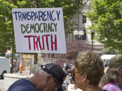 FILE - Government transparency open records law sunshine
