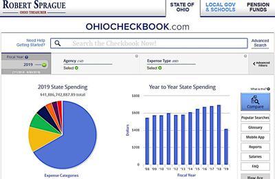 Ohio Checkbook screengrab 4-4-2019