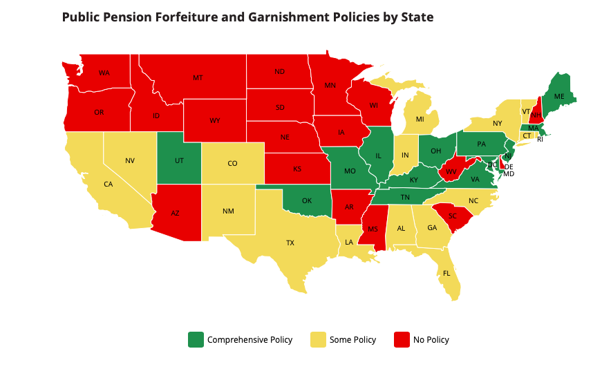 Reason pension forfeiture laws by state
