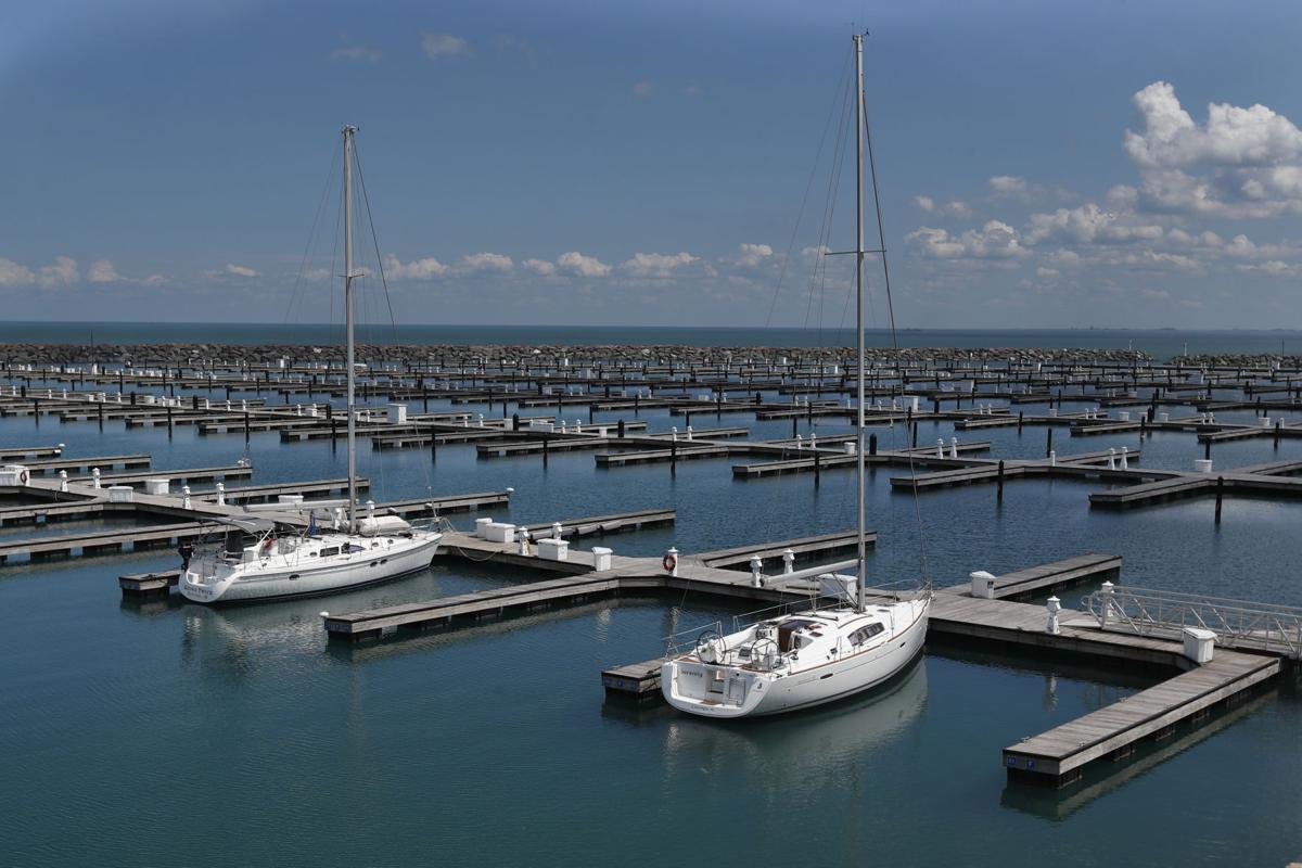 FILE - boats, harbor, Chicago, Virus Outbreak Memorial Day Chicago