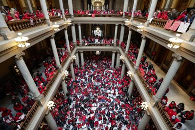File-Indiana Teachers Protests