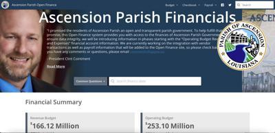 FILE - Ascension Parish Open Finance