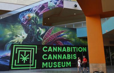 FILE - Cannabition cannabis museum in Las Vegas Nevada marijuana