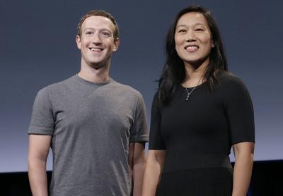 FILE - Mark Zuckerberg Priscilla Chan