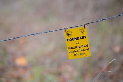 FILE - Bureau of Land Management sign