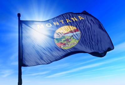 Montana,(usa),Flag,Waving,On,The,Wind