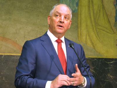 FILE - Louisiana Gov. John Bel Edwards