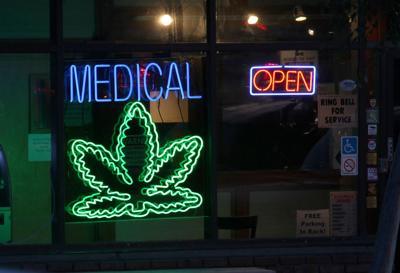 FILE - Medical marijuana dispensary, cannabis, weed