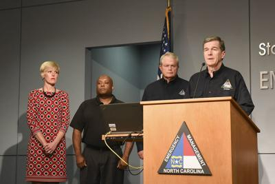 North Carolina Gov. Roy Cooper said during a Hurricane Dorian briefing
