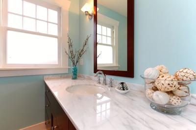 FILE - Marble Bathroom