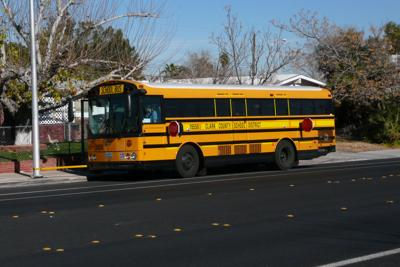 FILE - Clark County Nevada School bus