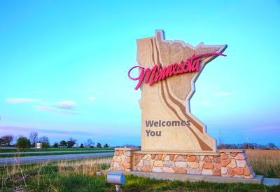 FILE - Minnesota welcomes you sign