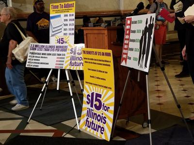 FILE - Minimum wage, Fight for $15