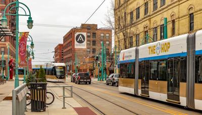 FILE - Milwaukee Wisconsin streetcar