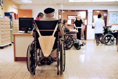 FILE - Nursing home, hospital