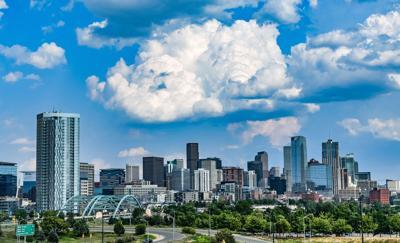 FILE - Downtown Denver, Colorado