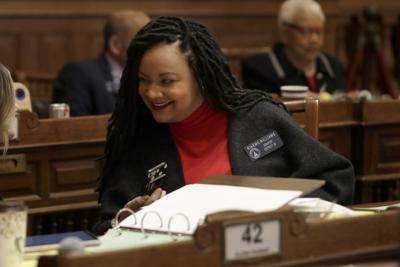 FILE - Georgia state Sen. Nikema Williams