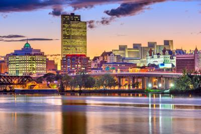 FILE - NY Albany skyline