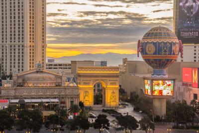 FILE - Las Vegas Skyline
