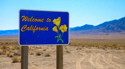 FILE - Welcome to California road sign