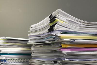 FILE - Public records paper files