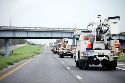FILE - Louisiana roads construction